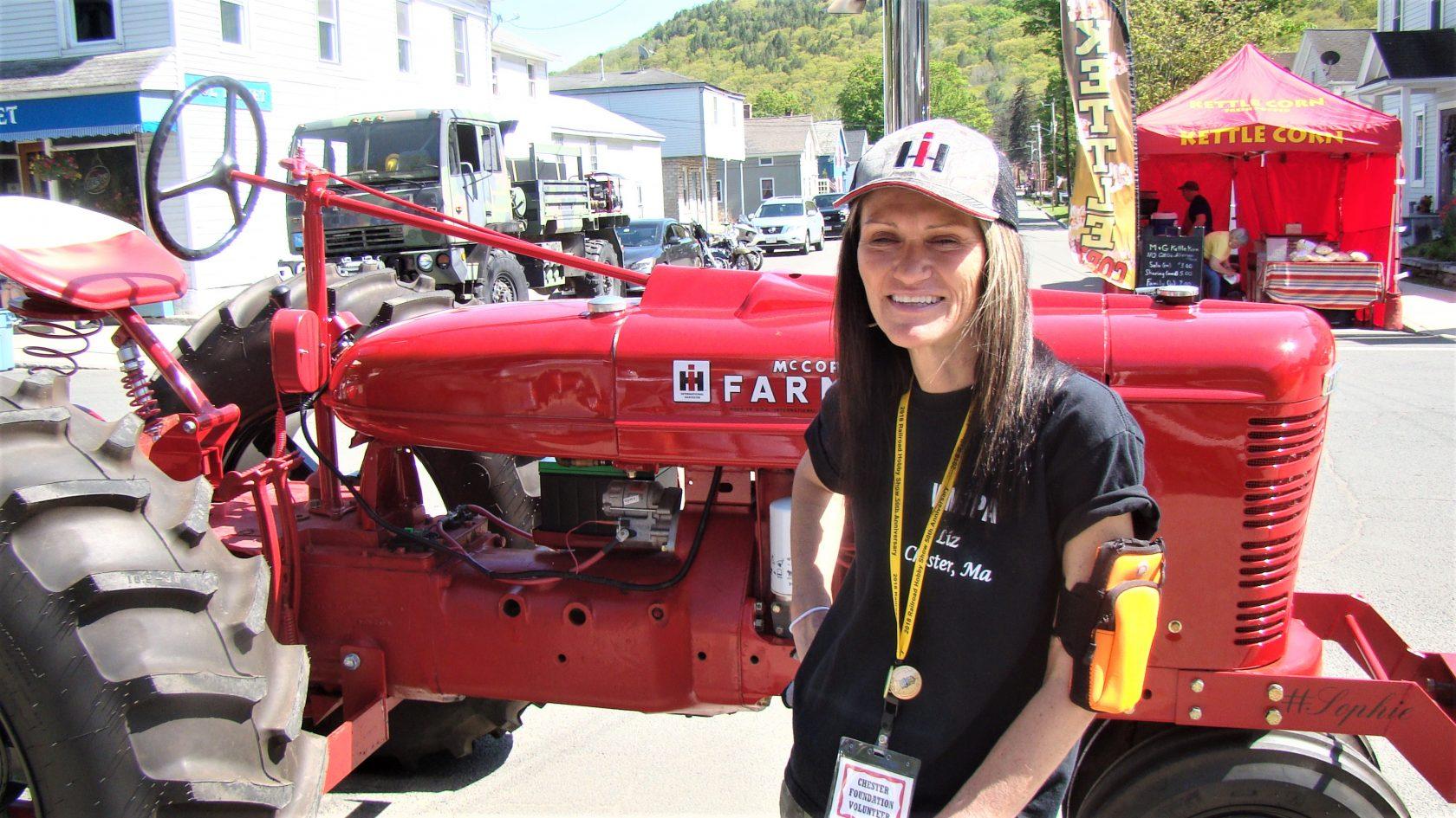 Liz Massa and 46 Farmall H - The Westfield News