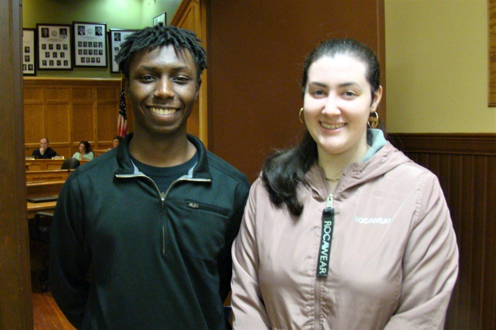 WTA student liaisons Alex Blake and Nayelley Ruiz
